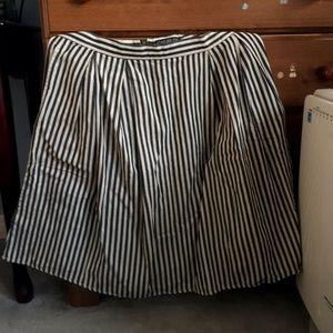 Forever 21 Plus Sizes black & white strip skirt